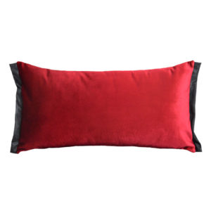 Coussin cale dos velours Rouge rosace