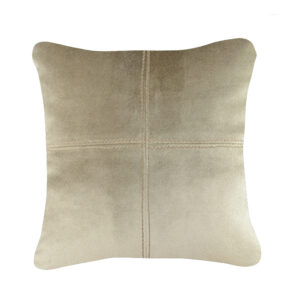 coussin taupe velours