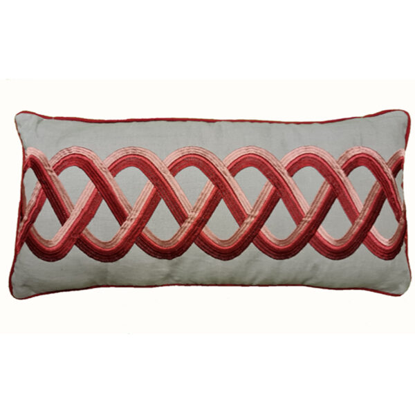 Coussin cale dos spirale rouge