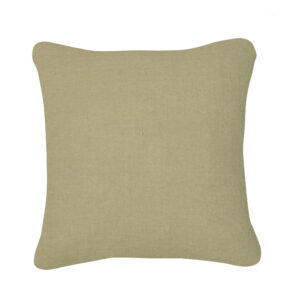 coussin lin luxe olive
