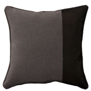 coussin en flanelle simili taupe jade