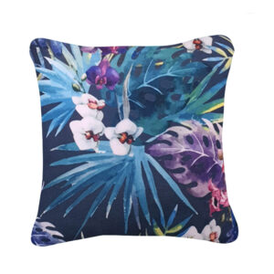 coussin jardin tropical anthracite
