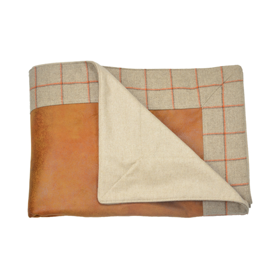 Plaid cuir flanelle carreaux COURCHEVEL orange