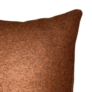coin coussin flanelle orange