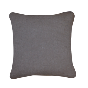 Coussin lin lavé taupe recto